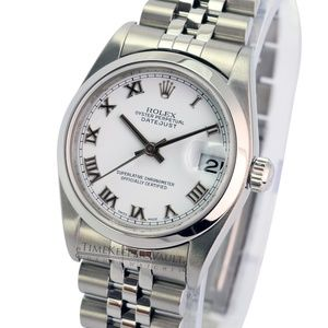 Rolex Datejust 78240 White Roman Dial Smooth Bezel